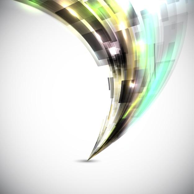 Fundo de design abstrato com um toque futurista
