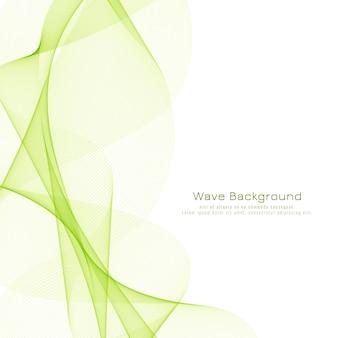 Fundo de design abstrato e elegante de onda verde