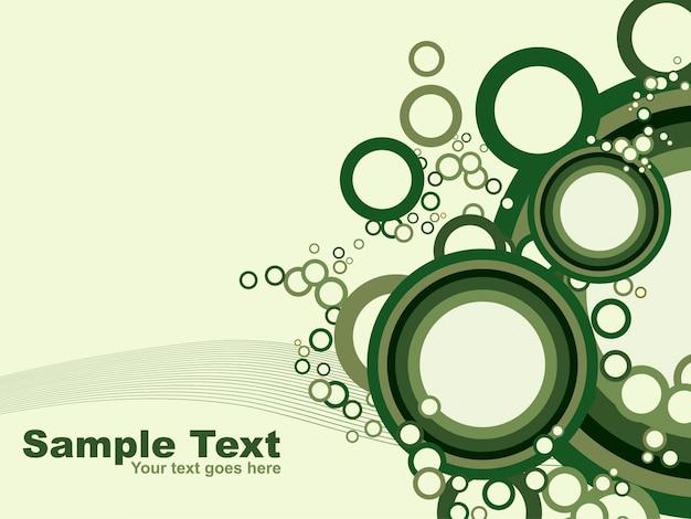 Fundo de design circular verde