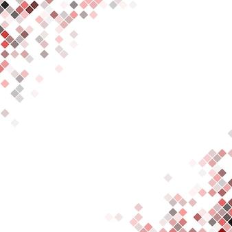 Fundo de design de canto quadrado pixel abstrato - ilustração vetorial de quadrados diagonais arredondados