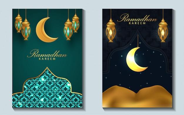 Fundo de design de capa de ramadã