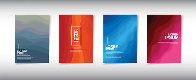 Fundo de design de capa moderna para brochura de negócios