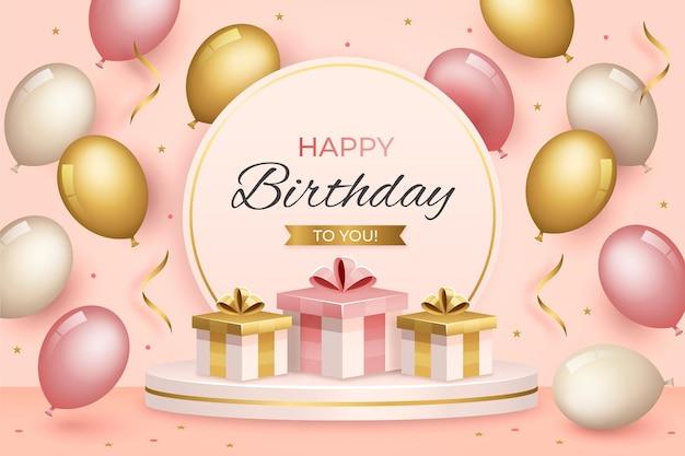 Fundo de design de feliz aniversário