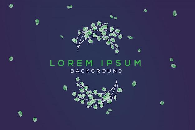 Fundo de design de folha verde
