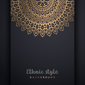 Fundo de design de luxo ornamental mandala