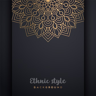 Fundo de design de luxo ornamental mandala