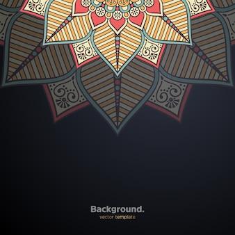 Fundo de design de mandala ornamental de luxo colorido