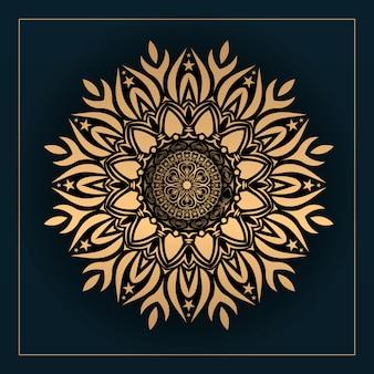 Fundo de design de mandala ornamental de luxo com cor dourada