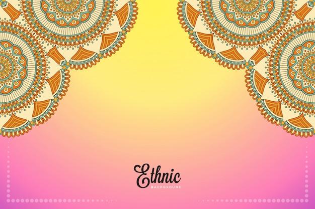 Fundo de design de mandala ornamental de luxo em vetor de cor ouro