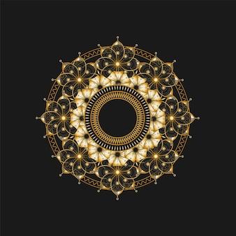 Fundo de design de mandala ornamental de luxo. padrão islâmico de luxo. Vetor Premium