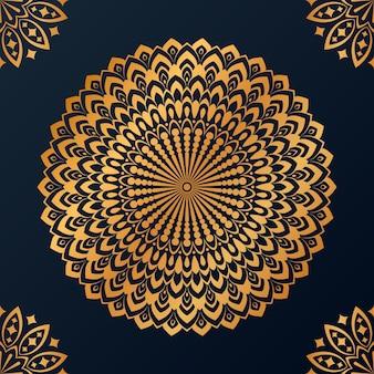 Fundo de design de mandala ornamental de luxo