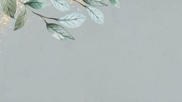 Fundo de design de moldura de folhas em branco
