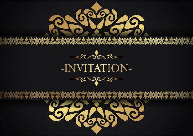 Fundo de design de moldura decorativa de convite elegante