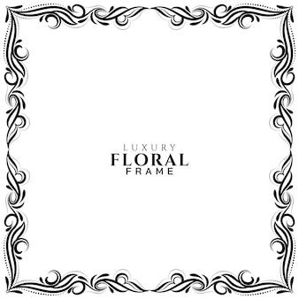 Fundo de design de moldura floral ornamental