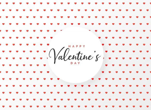 Fundo de design de padrão de corações para o dia dos namorados