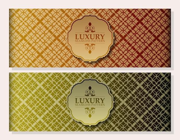 Fundo de design de padrão de ornamento de luxo