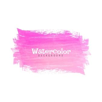Fundo de design de traço aquarela abstrata rosa