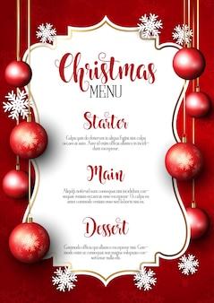 Fundo de design do menu de Natal