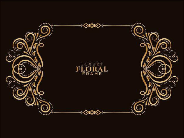 Fundo de design floral dourado elegante