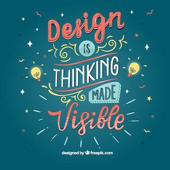 Fundo de design gráfico citação com mensagem inspiradora