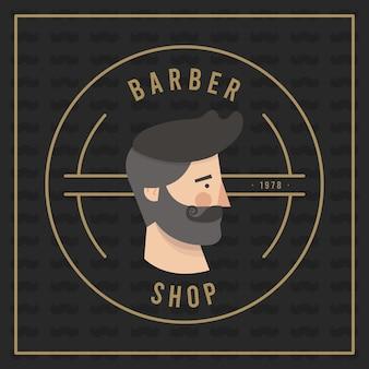 Fundo de design movember com barba hipster