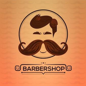 Fundo de design movember com bigode