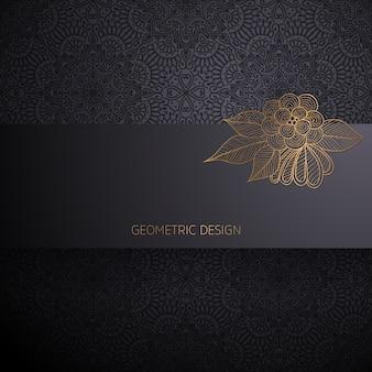 Fundo de design ornamental mandala de luxo na cor ouro