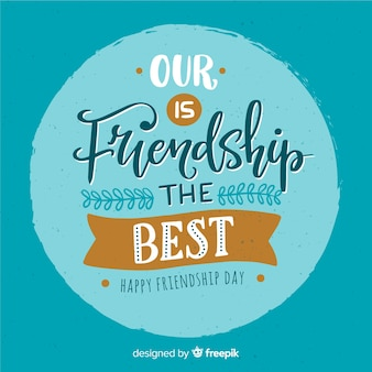 Fundo de design plano de dia de amizade