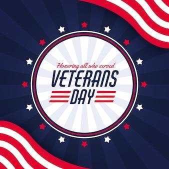Fundo de design plano de veteranos
