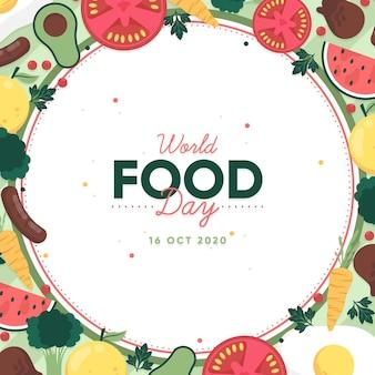 Fundo de design plano do dia mundial da alimentação