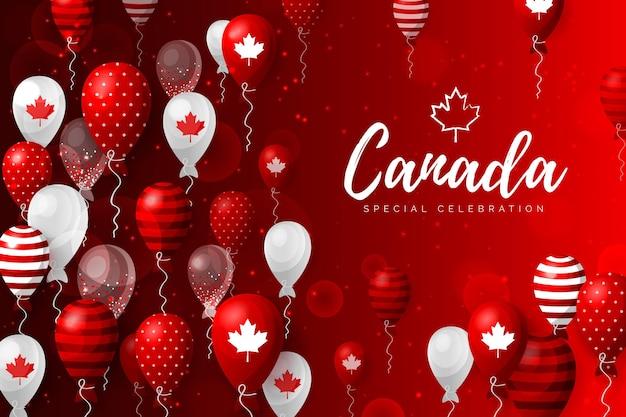 Fundo de design plano para o dia do canadá