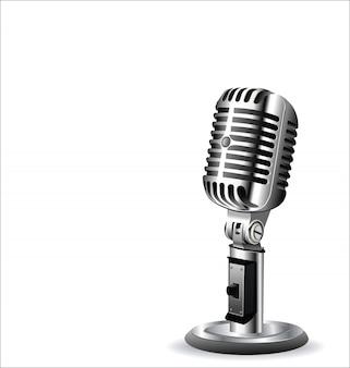 Fundo de design retrô vintage microfone