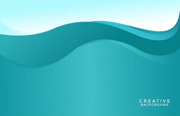 Fundo de design subaquático ondulado com cor azul