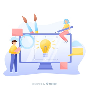 Fundo de designers gráficos trabalhando juntos em uma idéia