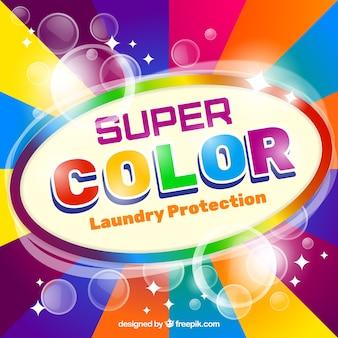 Fundo de detergente colorido