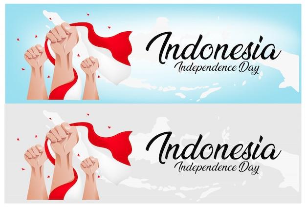Fundo de dia da independência da indonésia