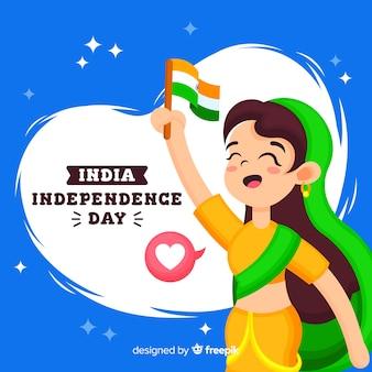 Fundo de dia da independência de india plana
