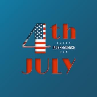 Fundo de dia da independência dos eua.