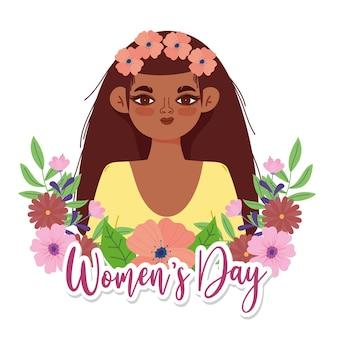 Fundo de dia da mulher com flores