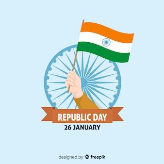 Fundo de dia da república da índia