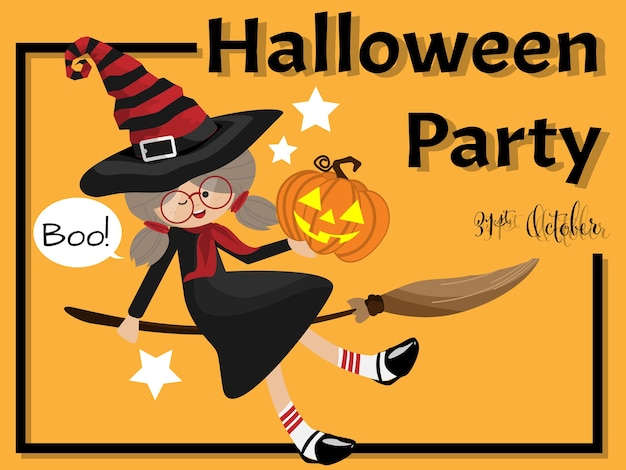 Fundo de dia das bruxas com texto de festa de halloween.