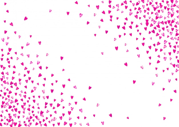 Fundo de dia das mães com confetes de glitter rosa. ouvir isolado