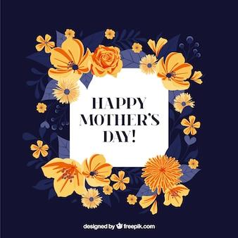 Fundo de dia das mães com flores coloridas