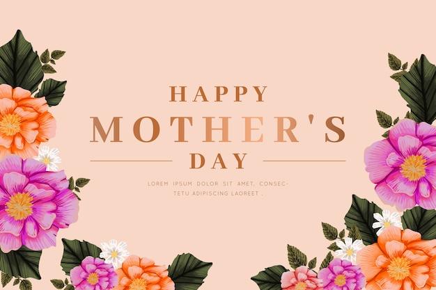 Fundo de dia das mães com flores