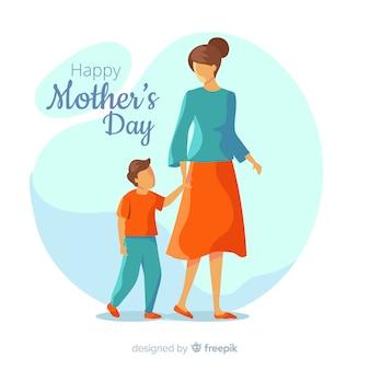 Fundo de dia das mães de mão desenhada