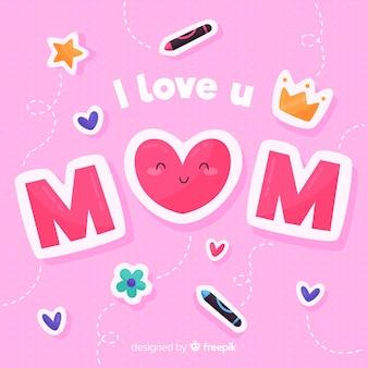 Fundo de dia das mães engraçado