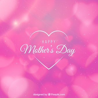 Fundo de dia das mães feliz com efeito bokeh