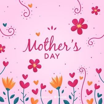 Fundo de dia das mães floral engraçado