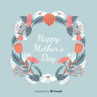 Fundo de dia das mães floral mão desenhada