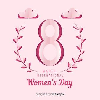 Fundo de dia das mulheres de papel dobrado